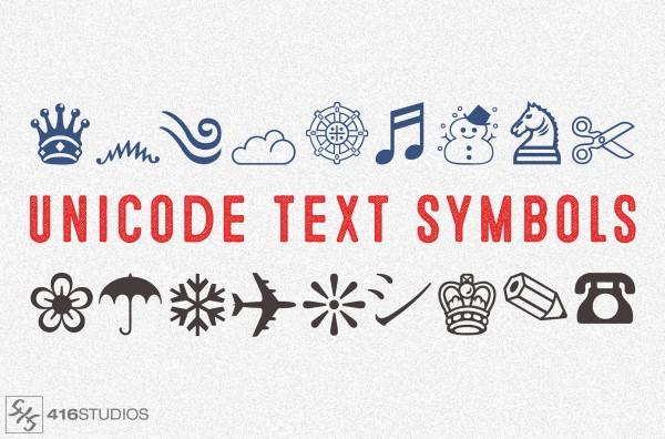 Unicode Text Symbols To Copy and Paste - 416 Studios Symbols Copy And Paste Cute
